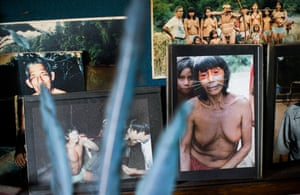 Photographs of tribesmen and women from the Peruvian Amazon taken by Peter Gorman during one of his expeditions.
