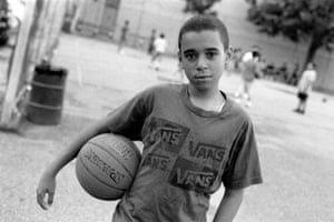 Young basketball player in the park before Friday prayers, Brooklyn, 2011