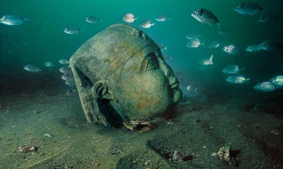 A Ptolemaic king depicted a a pharaoh discovered in Canopus after excavation and cleaning