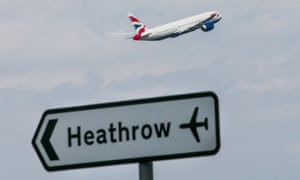 'Up one thousand, two thousand, three thousand feet' … Heathrow sets off in the direction of poetry.