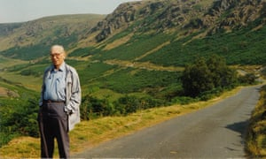 Len Clark at Abergwesyn Commons, which he saved from afforestation