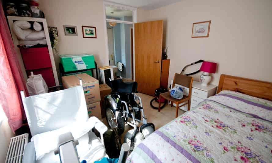 The 'spare' room, at the Rutherfords' three-bedroom bungalow