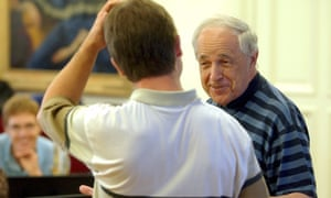 Boulez working with young musicians at the Lucerne Festival in August 2003. In 2004, with festival director Michael Haefliger, he founded the Lucerne Festival Academy, a summer orchestral institute for young musicians, dedicated to music of the 20th and 21st centuries.
