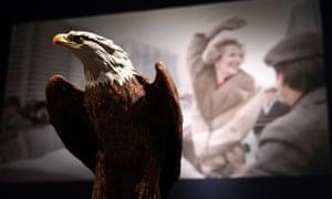 A model of an American bald eagle.