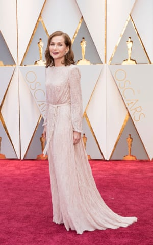 Isabelle Huppert at the Oscars in 2017.