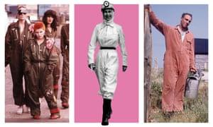 Boilersuits as seen Derek Jarman's 1978 film Jubilee; the Queen in 1958; and Derek Jarman in 1992.