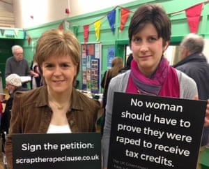 Alison Thewliss (r) at the launch with SNP leader Nicola Sturgeon.
