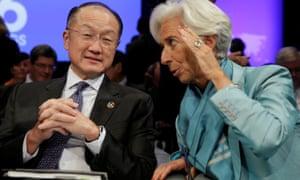Jim Yong Kim and Christine Lagarde