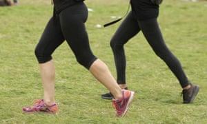 Women in running gear