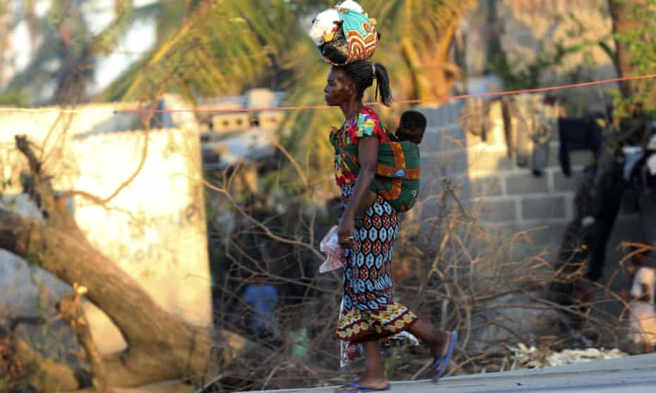 A mother and baby on the streets of Beira, Mozambique