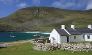 Island life: the Factor's House on the island of Hirta, St Kilda, Scotland.
