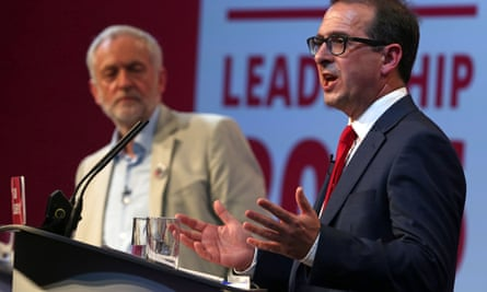 Jeremy Corbyn and Owen Smith in the first Labour party leadership debate