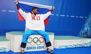 Alexander Tretiakov, who won gold for Russia in the men's skeleton at Sochi