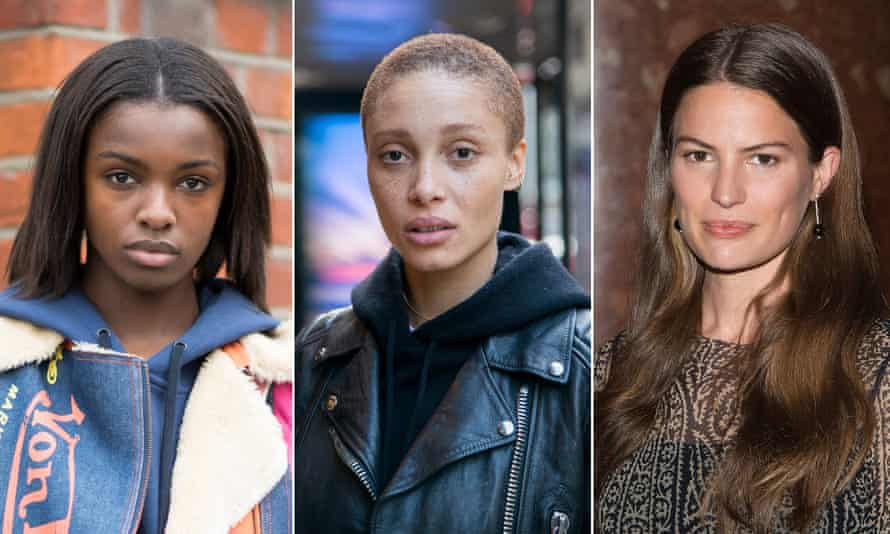 Radical style … Leomie Anderson, Adwoa Aboah and Cameron Russell.