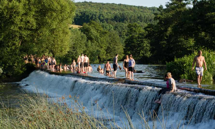 Popular swim spots in Somerset such as Warleigh Weir have been closed leading to overcrowding at other sites.