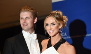 """A little bit of pain"": Lara Trump with her husband Eric."