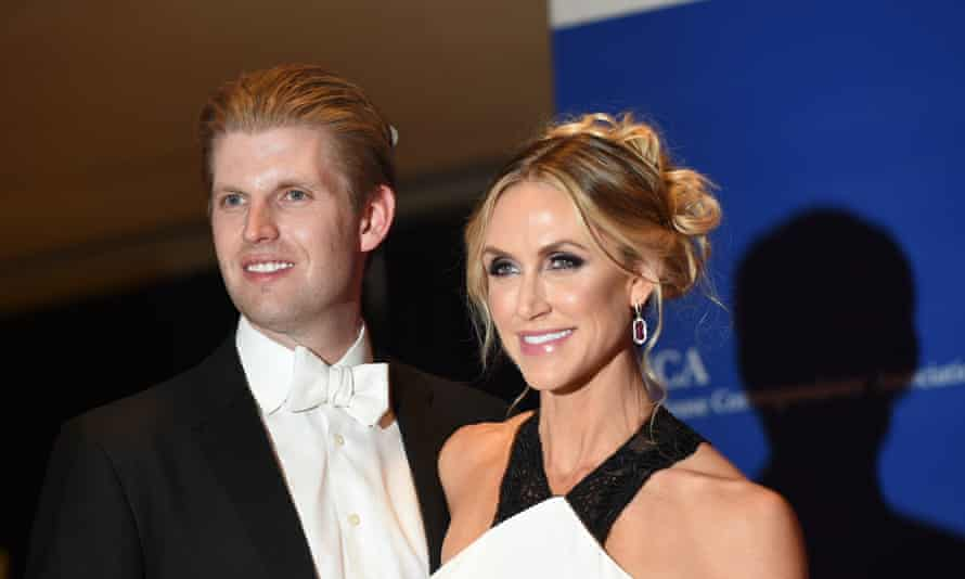"""""""A little bit of pain"""": Lara Trump with her husband Eric."""
