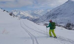 Ski touring near Mount Halgurd - Iraq's highest peak.