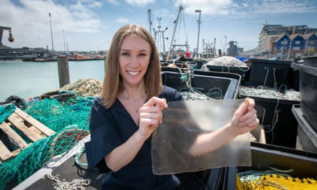 Lucy Hughes's product solves two problems: the ubiquity of single-use plastic and fish waste.