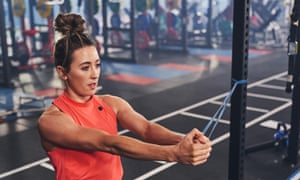 Jade Jones working out before confirmation last week that the Olympics had been postponed until 2021.