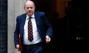 Work and pensions secretary Damian Green leaves a cabinet meeting at Downing Street.