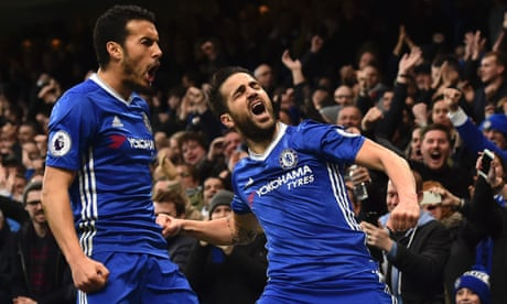 Fàbregas and Pedro see off stubborn Swansea as Chelsea stay way out in front