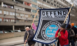 Campaigners march through Aylesbury Estate to demand social housing