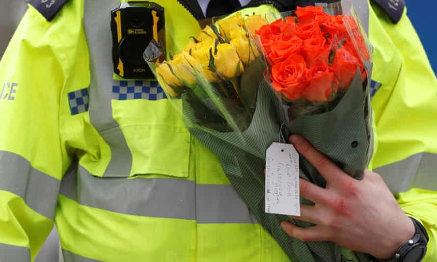 Flowers were left for Sarah Everard as the police investigation continues.