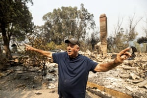Hank Hanson, 81, describes the path the LNU Lightning Complex fires took to reach his Vacaville, home.