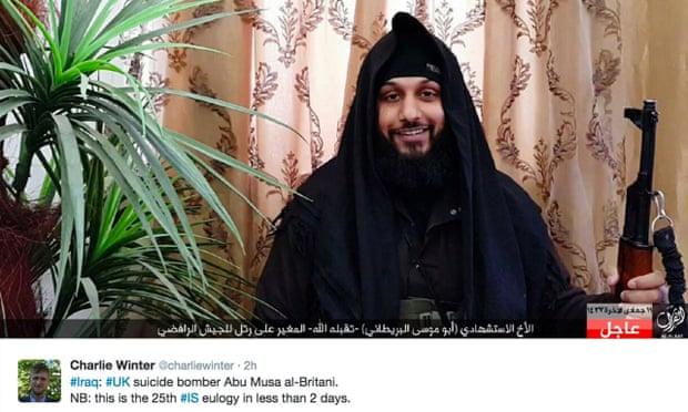 Photograph on Twitter purportedly of Abu Musa al-Britani