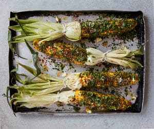 Anna Jones' quick honey-herbed corn on the cob.