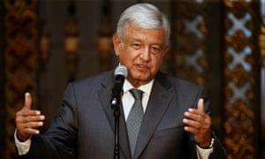 Andrés Manuel López Obrador takes office 1 December.