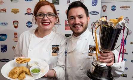 Bonny and James Ritchie, owners of award-winning Cheltenham chippy Simpsons.