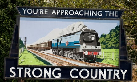 Advert hoarding at Alton railway station.
