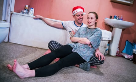 Buoyant … Joseph Thompson as Jonny and Shannon Tarbet as his daughter, Billie, in Yous Two.