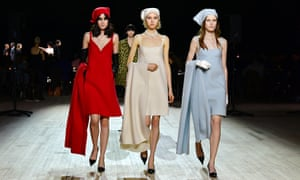 Models walk the runway at the Marc Jacobs fall 2020 show during New York fashion week