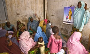 Family planning meeting in Nigeria