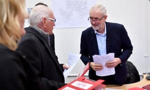 Jeremy Corbyn in Stoke on Trent on Friday.