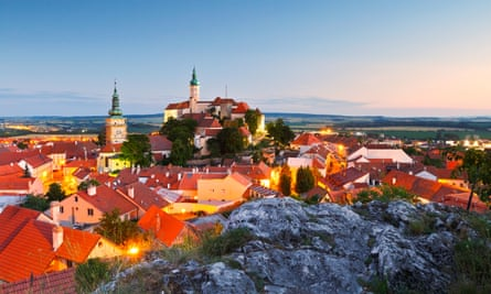 Mikulov, with its baroque castle, in the Czech Republic.