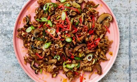 Meera Sodha's vegan recipe for shiitake rice with chilli pecan oil