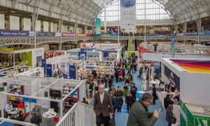 Visitors to the London book fair 2019 at Olympia.