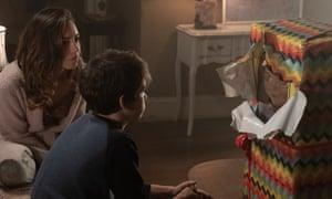 Child's Play … Aubrey Plaza unveils her gift.