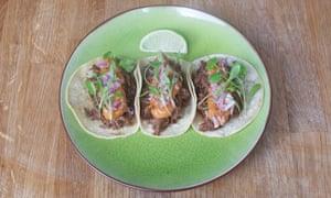 Beef tacos.