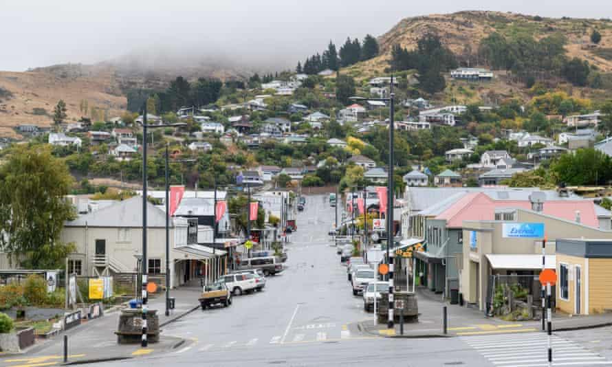 The deserted main road in Lyttelton, New Zealand, as a result of the coronavirus lockdown.