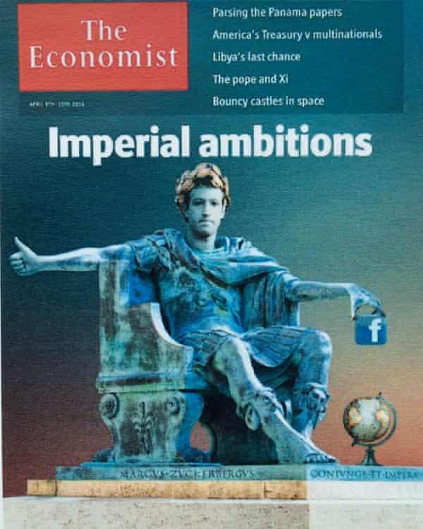 The Economist's flattering Zuckerberg cover.