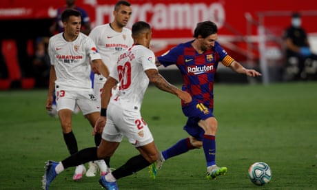Barcelona draw blank at Sevilla to keep title race wide open