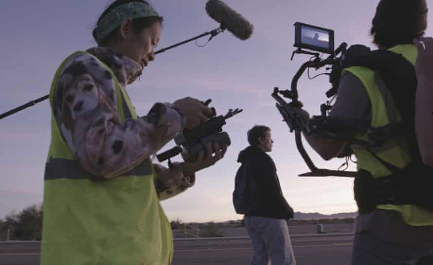 Out of the margins … on set with Frances McDormand.