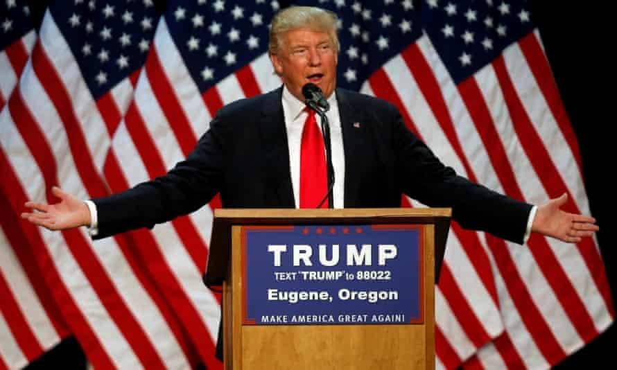 The US presidential hopeful Donald Trump