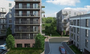 PR image of Catford Green apartments in south-east London