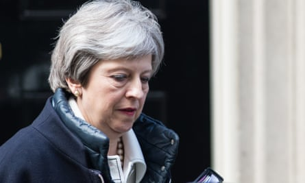 Theresa May leaves Downing Street on 16 April.